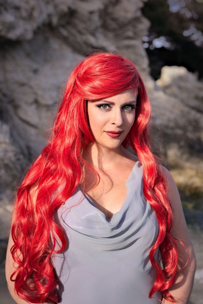 Arielle cosplay glitzer