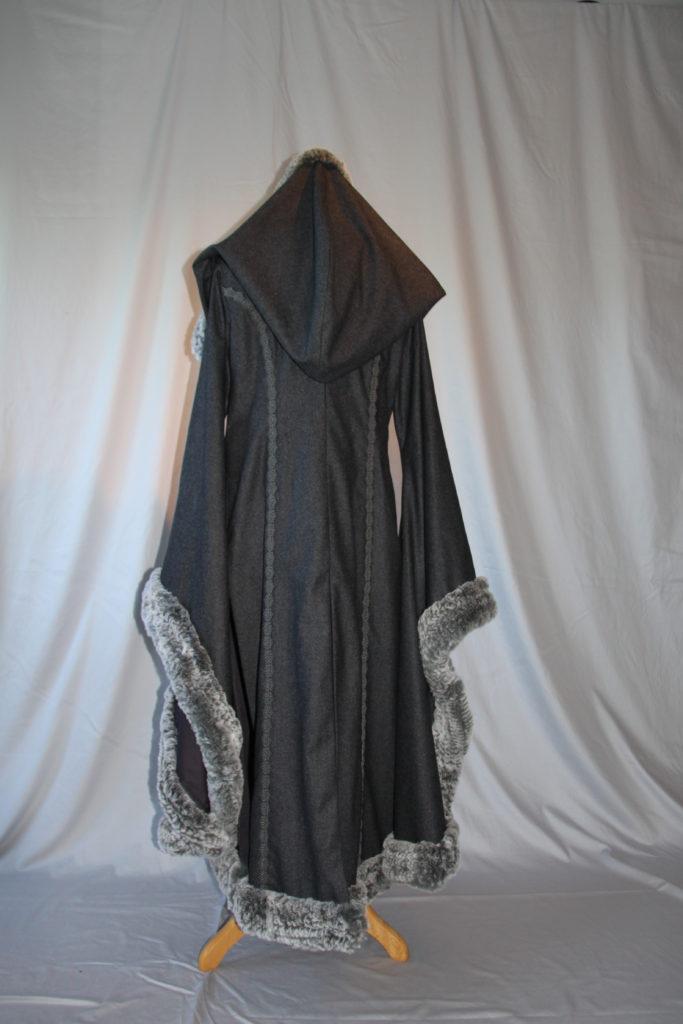 Vikinger Mantel grau 01