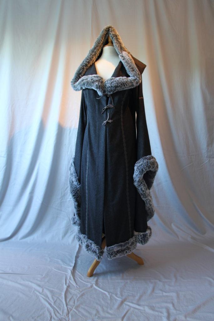 Vikinger Mantel grau 06