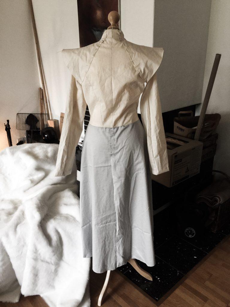 Daenerys white furcoat WIP 016