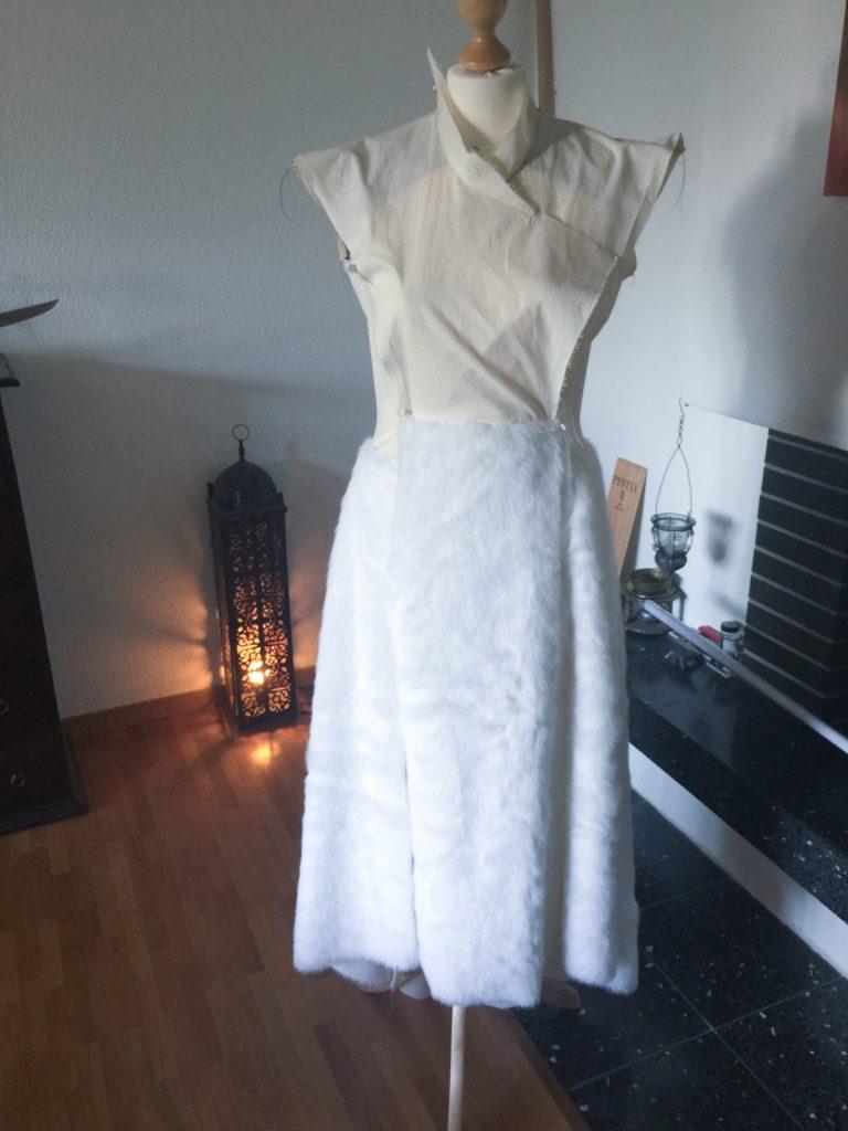 Daenerys white furcoat WIP 046