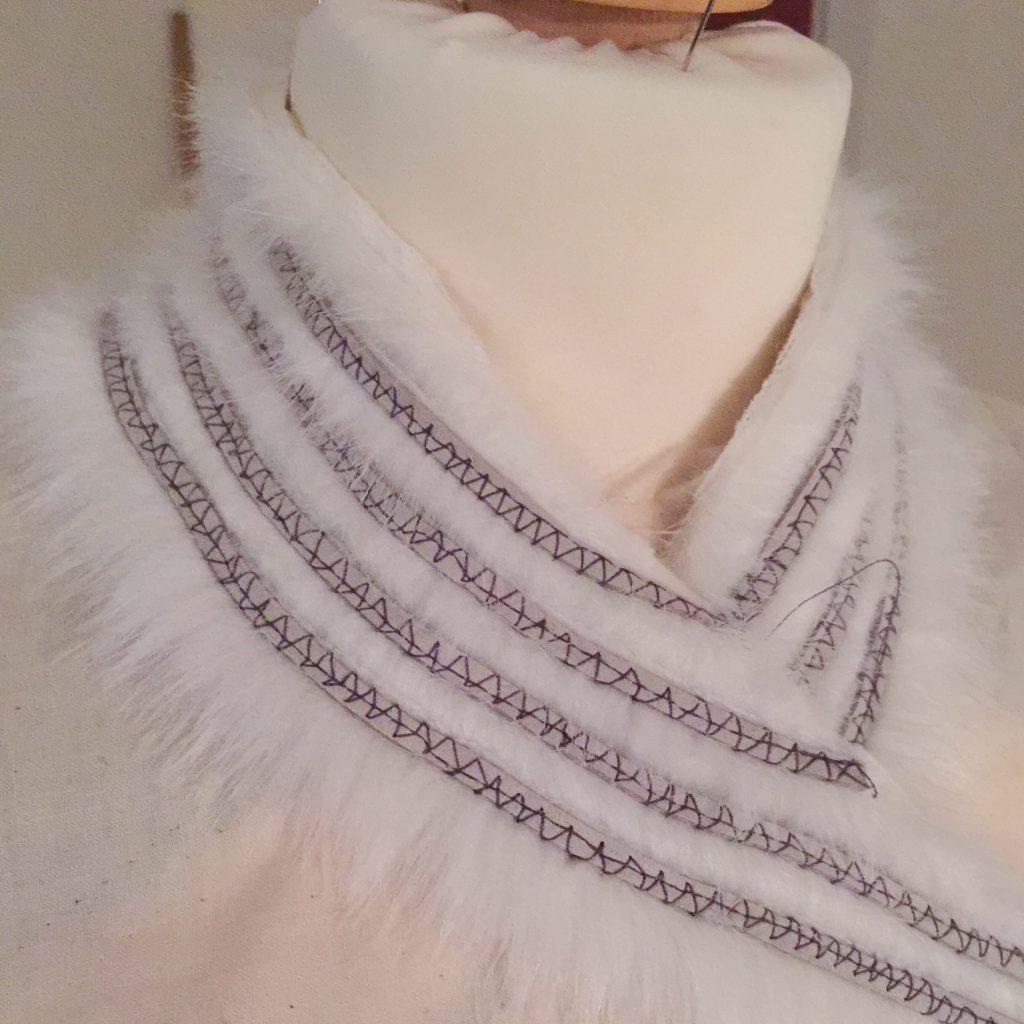 Daenerys white furcoat WIP 057