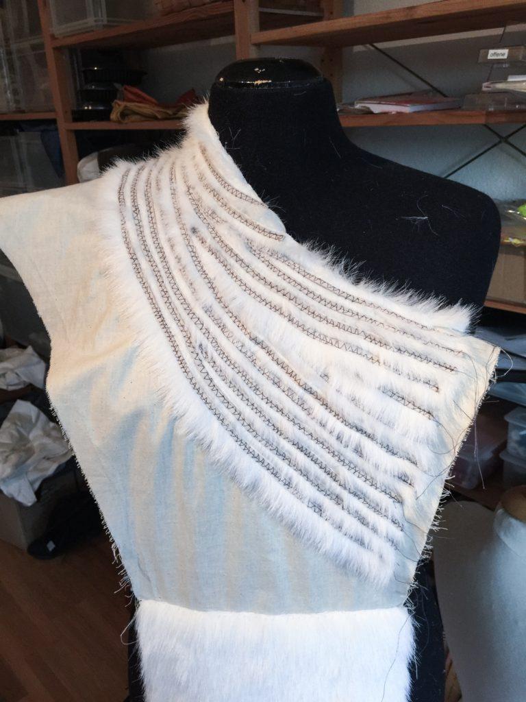 Daenerys white furcoat WIP 061