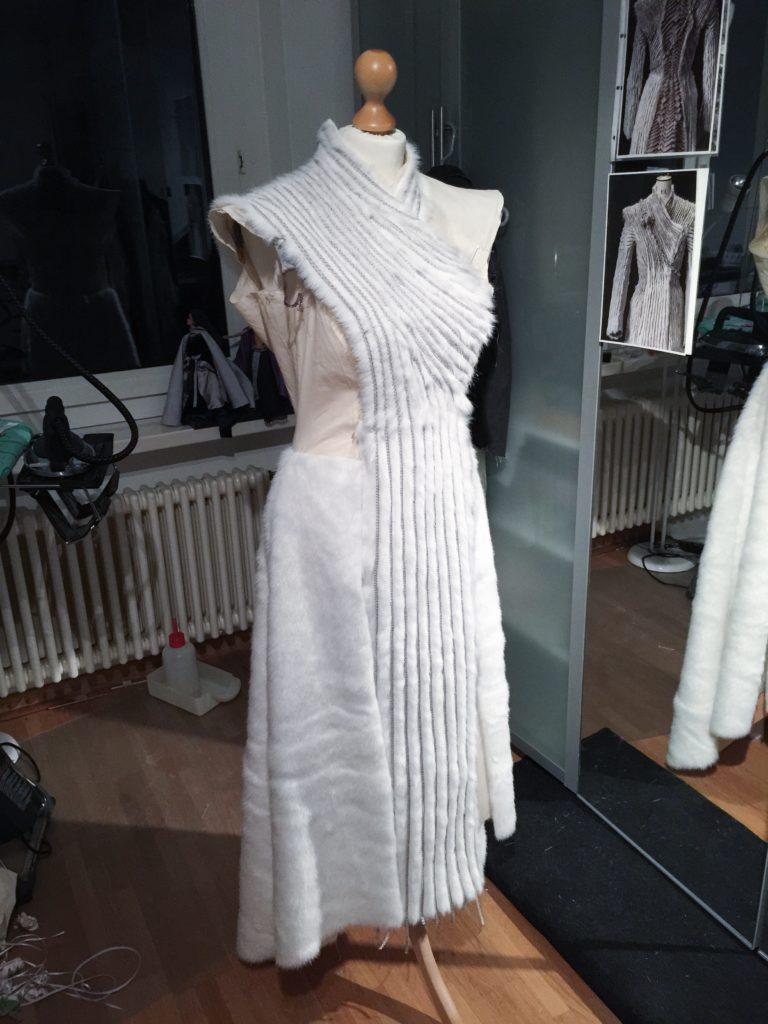 Daenerys white furcoat WIP 071