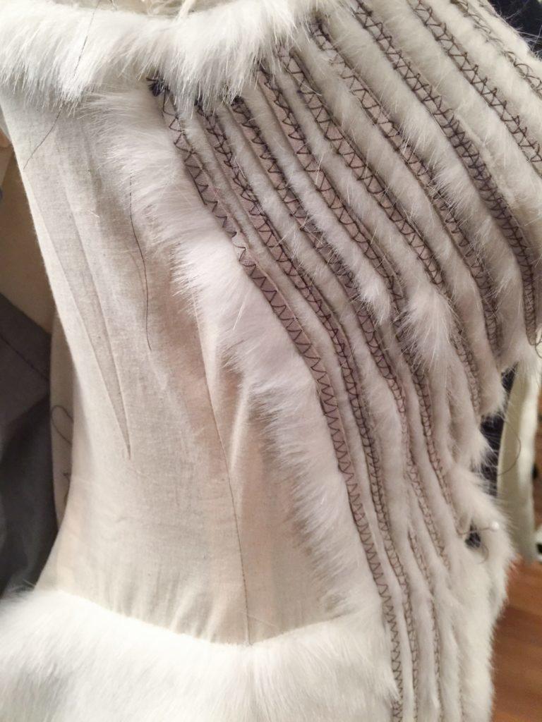 Daenerys white furcoat WIP 080