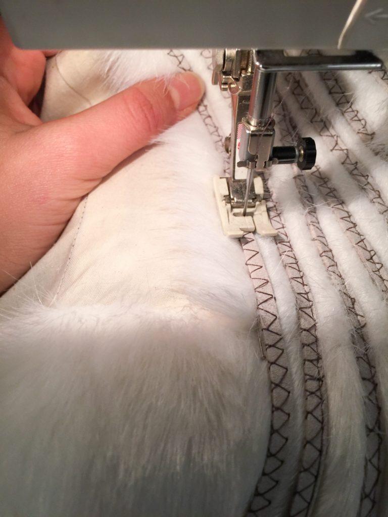 Daenerys white furcoat WIP 082