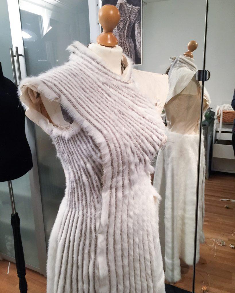Daenerys white furcoat WIP 089