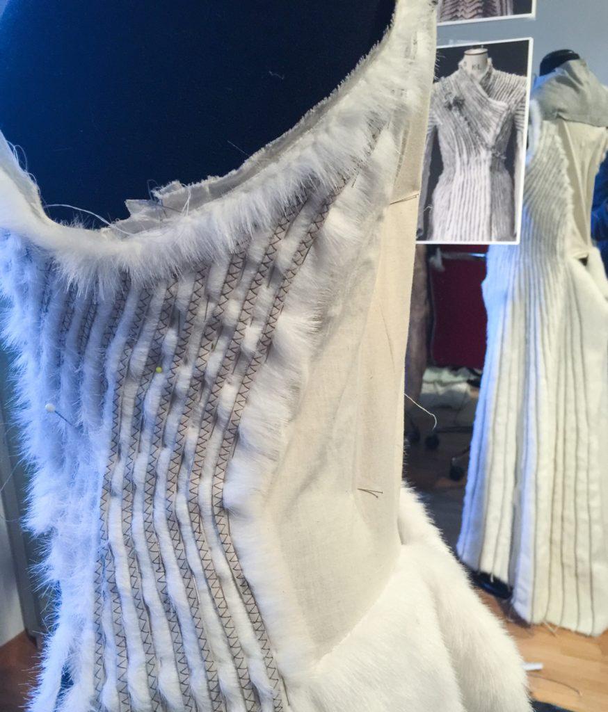Daenerys white furcoat WIP 108