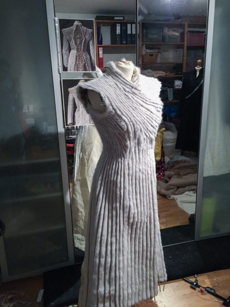 Daenerys white furcoat WIP 146
