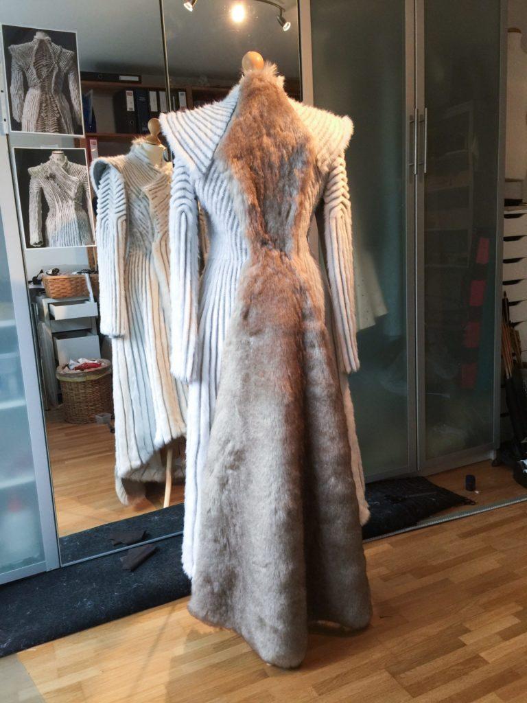 Daenerys white furcoat WIP 206