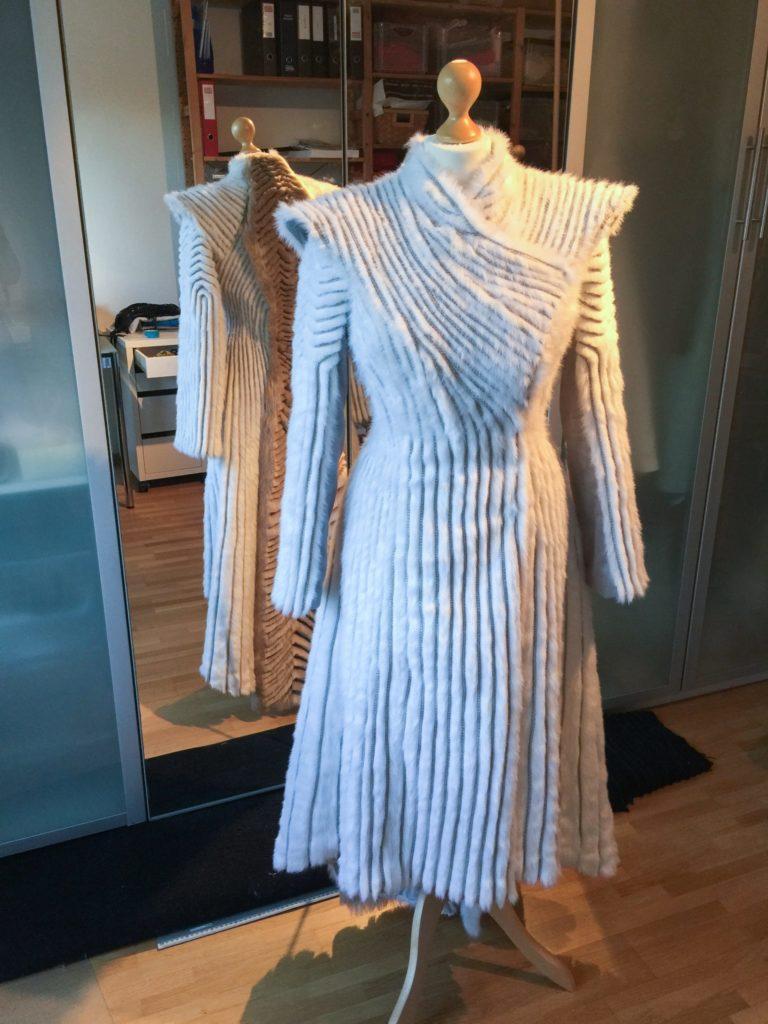 Daenerys white furcoat WIP 301