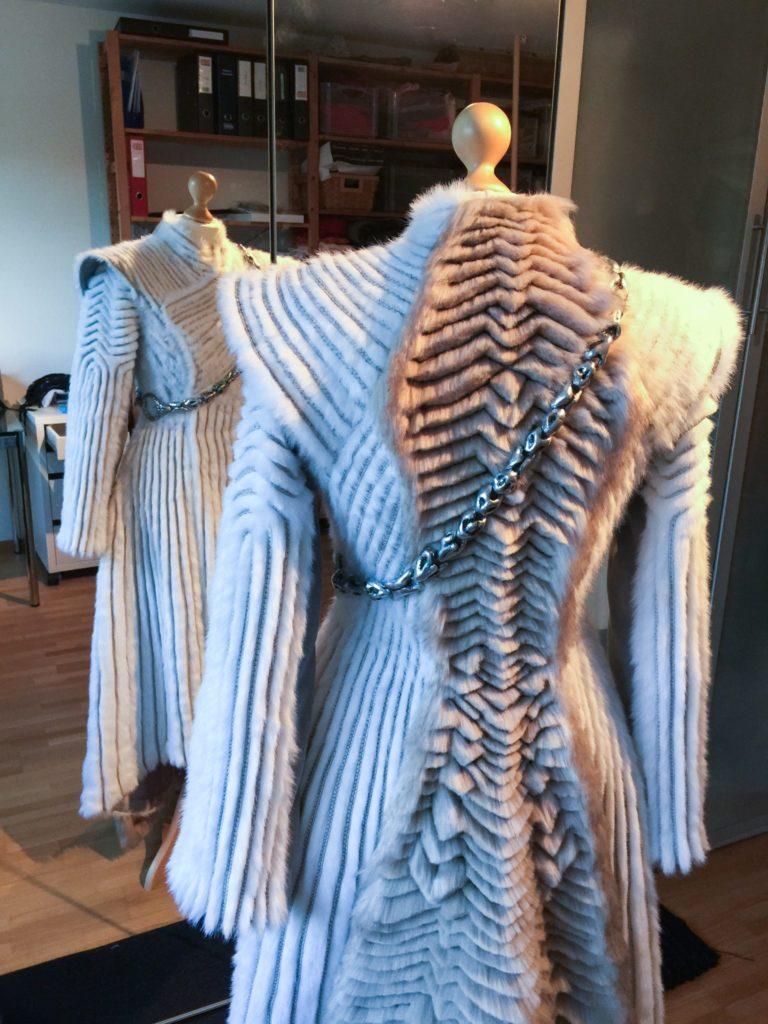 Daenerys white furcoat WIP 318
