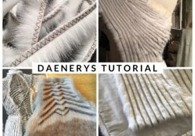 Daenerys fur coat tutorial